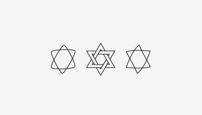 六芒星紋身貼