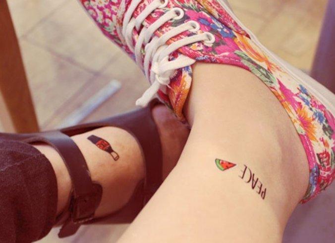 韩国个性纹身贴,时尚时尚最时尚,不怕摩擦摩擦.怕疼,就贴纹身贴吧