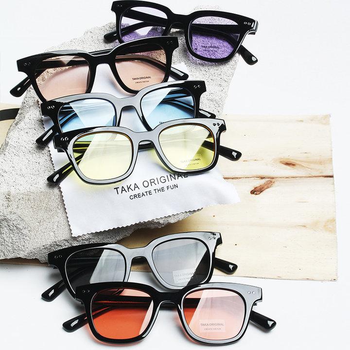 透明彩色墨镜图片