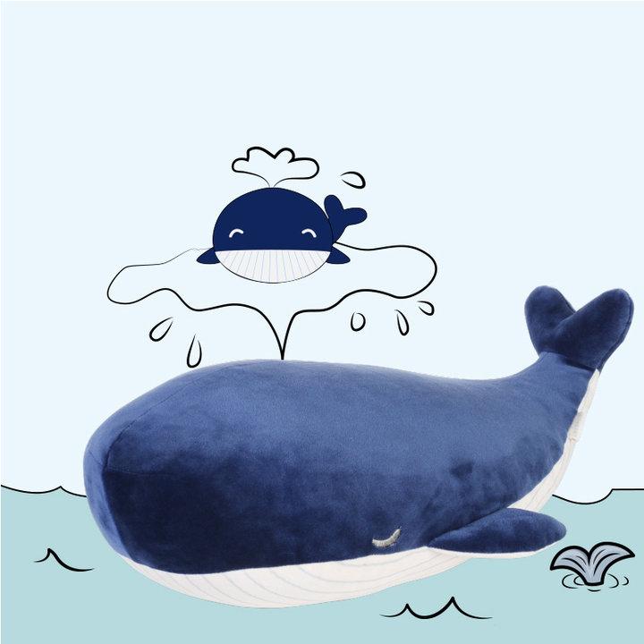 可爱的鲸鱼治愈满分,翘起的小尾巴萌萌哒,就让这头小鲸鱼陪她过冬吧