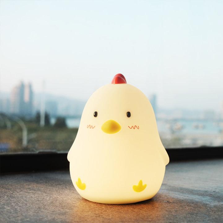 小鸡j简笔画带颜色